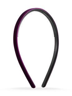 Thin Velvet Headband - Maroon