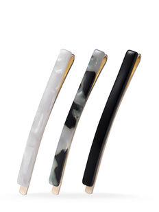 Black Slim Slides - 3 Pk
